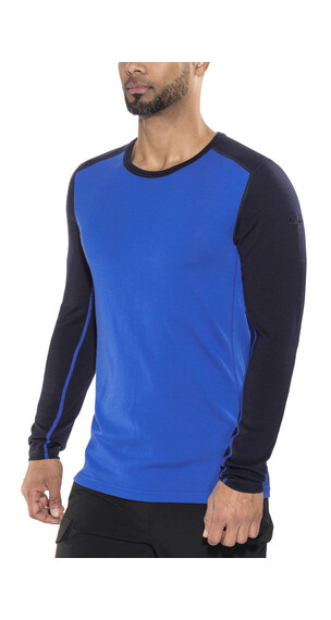 Icebreaker Tech Top Ondergoed bovenlijf blauw/zwart